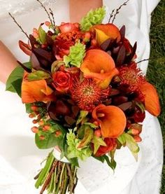 roses , caallas and mixed fall flowers