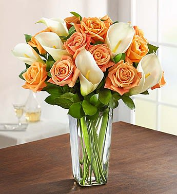Autumn Rose Calla Lily Bouquet In Sacramento Ca Bouquet Of