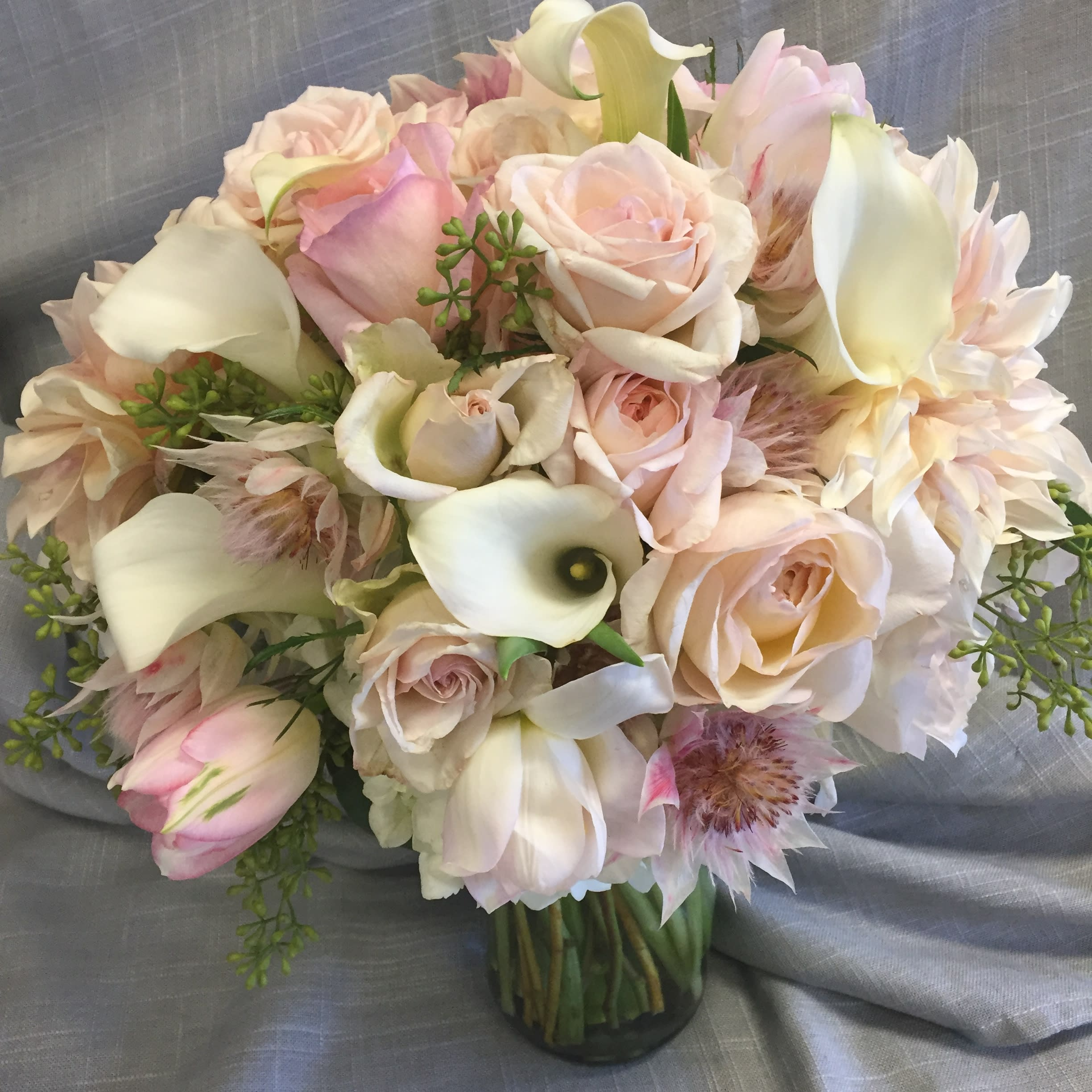 Pastel Wedding Flowers: Soft Pastel Wedding Bouquet In Concord, CA