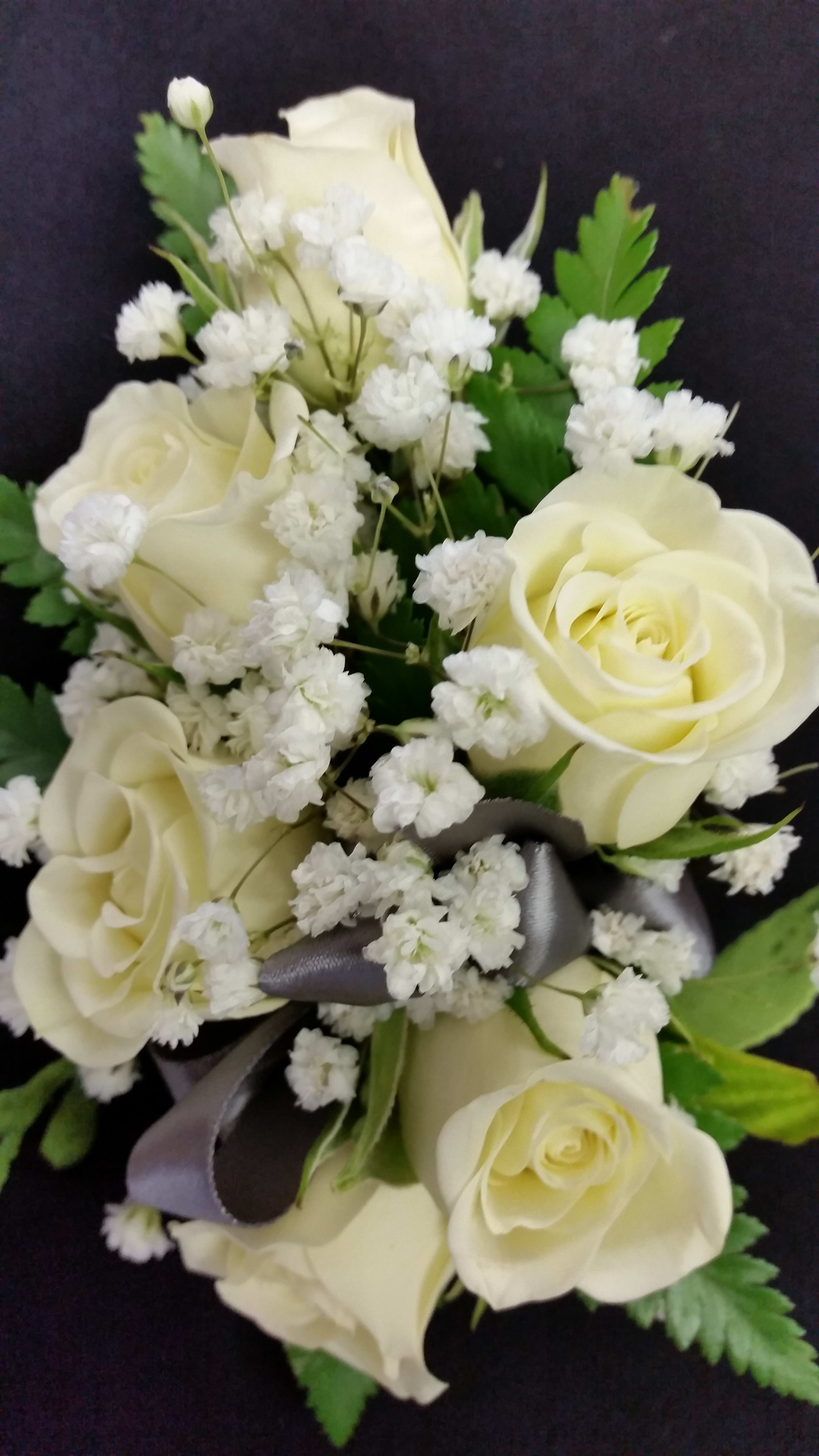 White Spray Rose Corsage In Cottleville Mo The Potted Plant