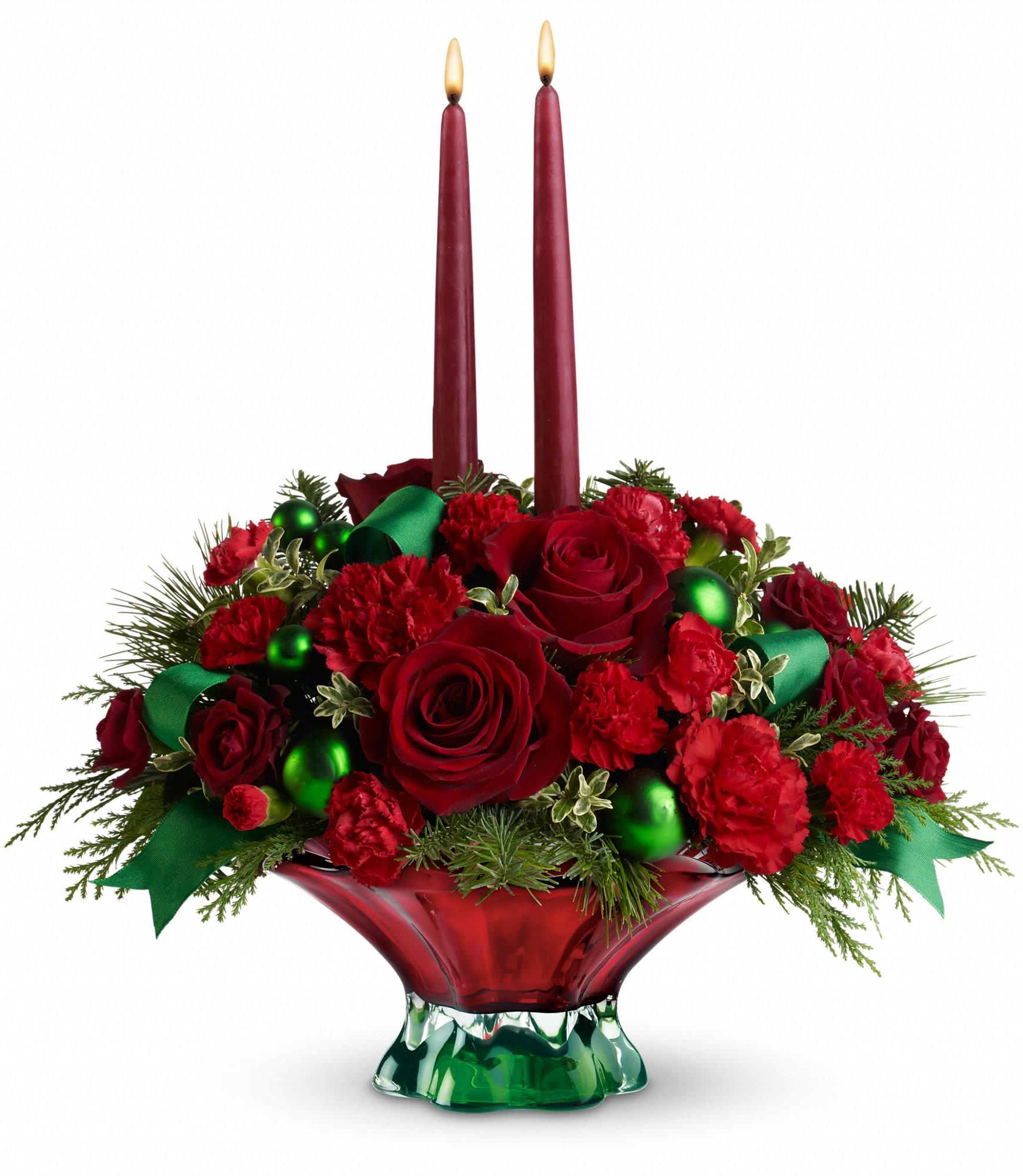 Teleflora Christmas 2019.Teleflora S Joyful Christmas Centerpiece In San Jacinto Ca San Jacinto Florist