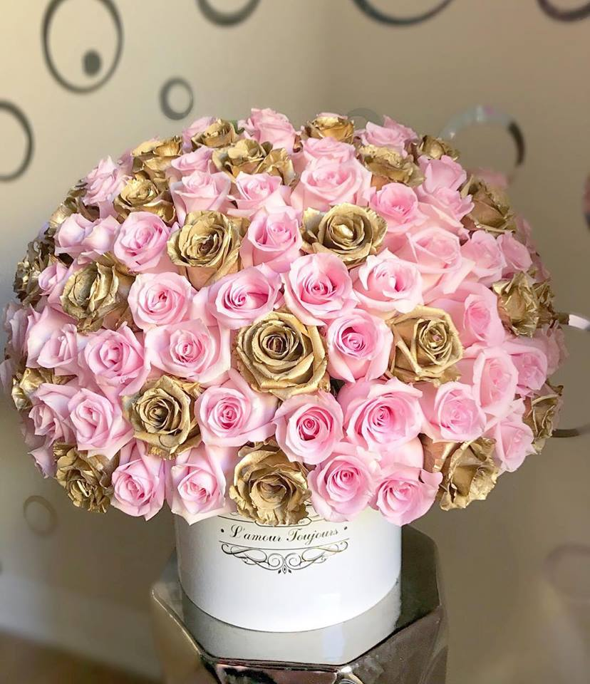 6648ce3f3 Princess Signature Box Pink Gold by L amour Toujours Flower Boutique