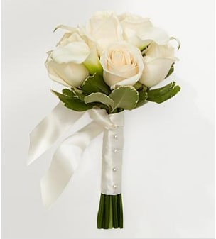 Ivory Bouquets For Bridesmaids