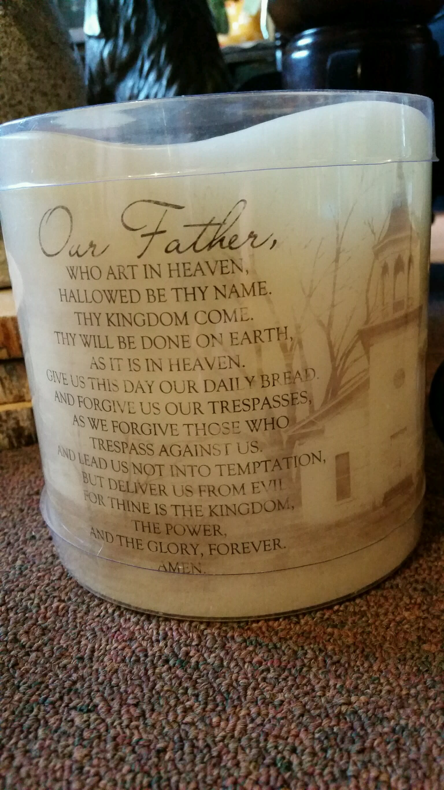 Lord's Prayer Flameless Candle in Athens, TN | Athens Flower Shop