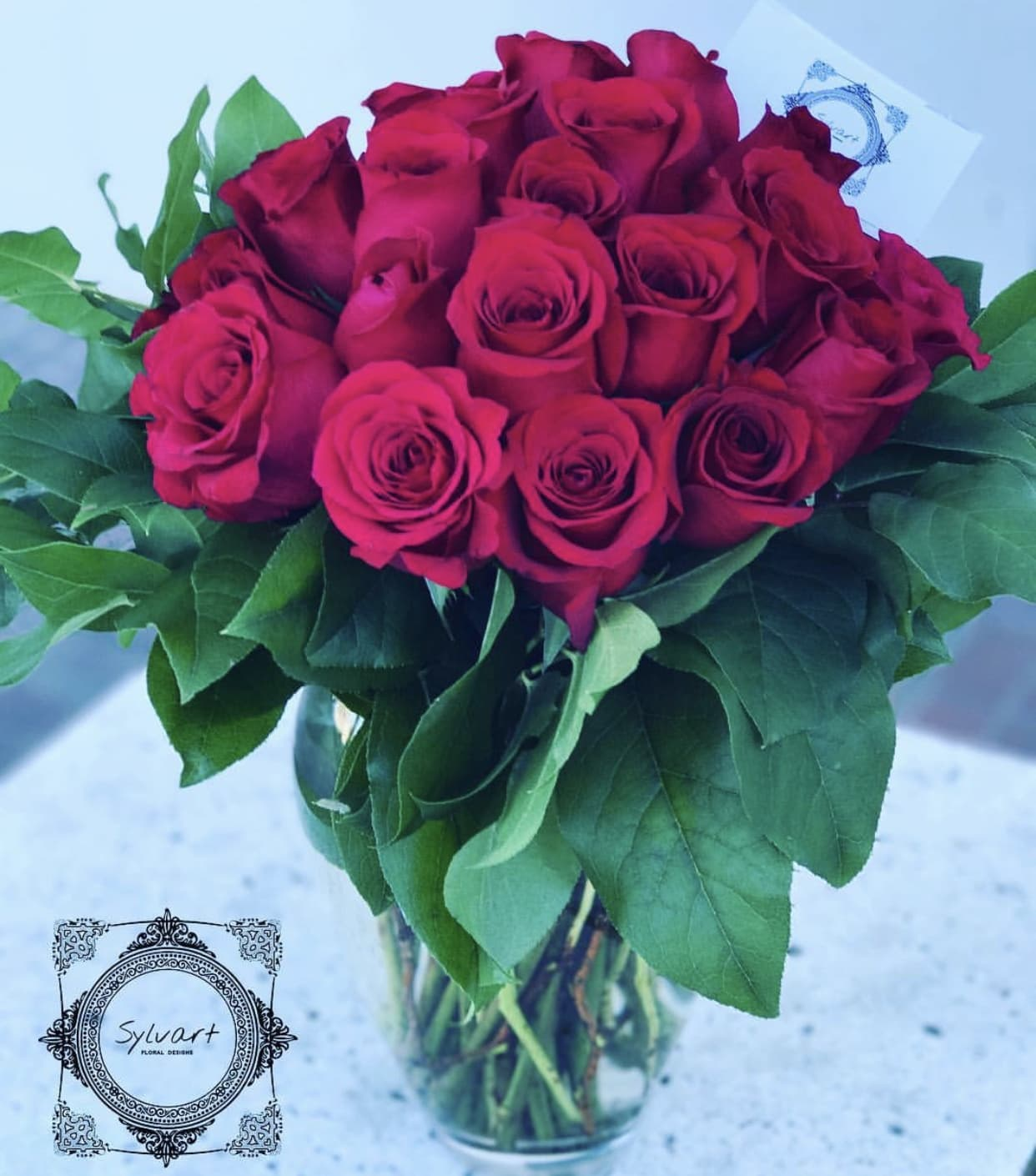 Two Dozen Roses In Burbank Ca Sylvart Floral Designs