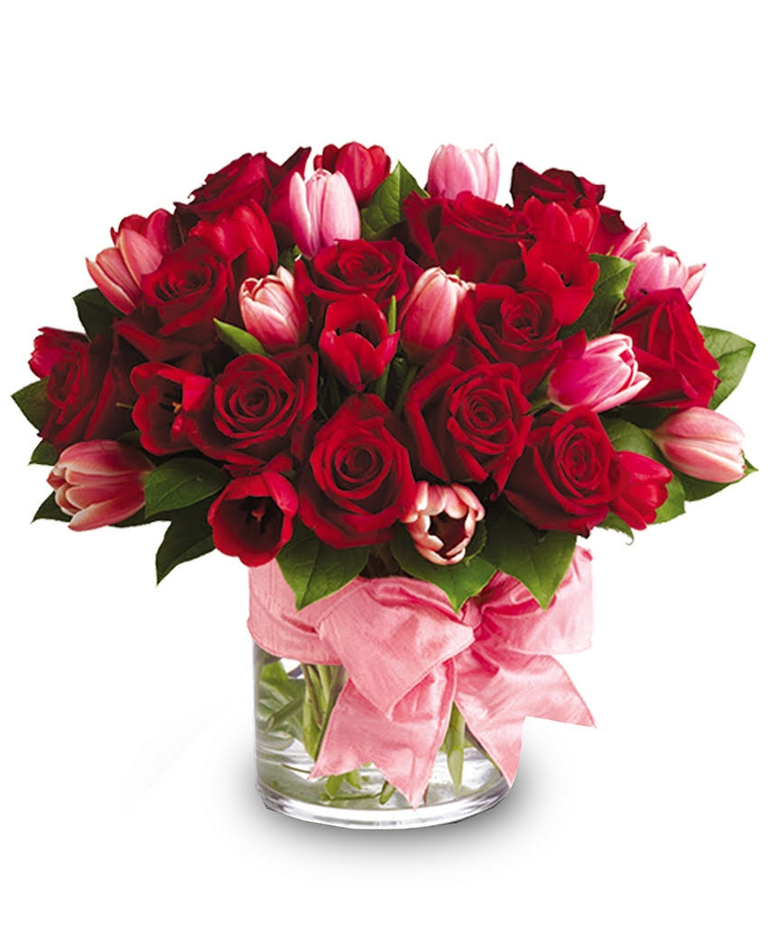 Red Roses And Tulips In San Antonio Tx The Tuscan Rose Florist