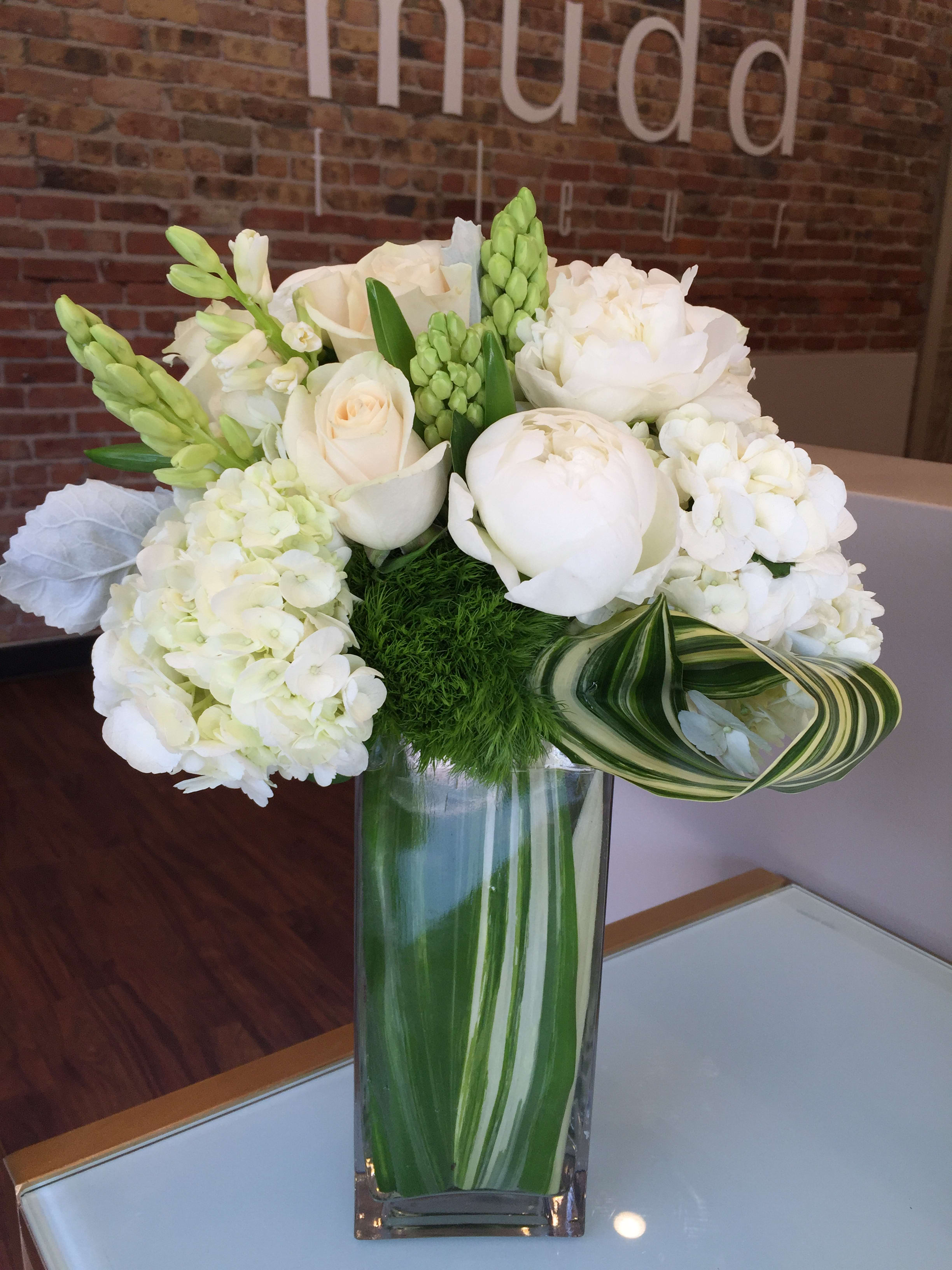 White And Green Spring Flowers By Mudd Fleur