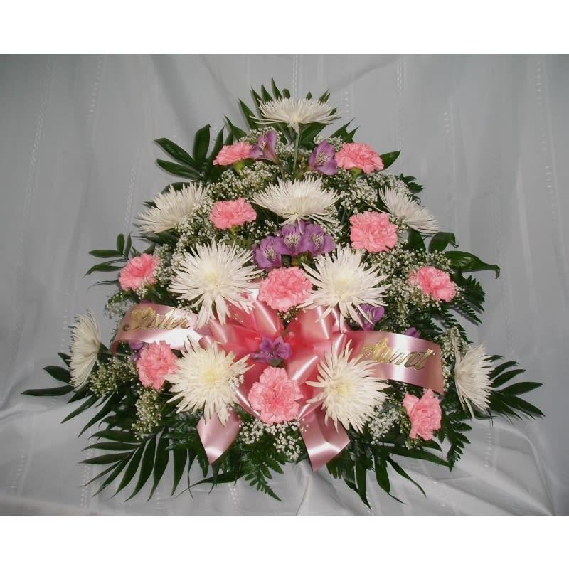 White Mums Carnations Alstromeria Arrangement In Wilkes Barre Pa