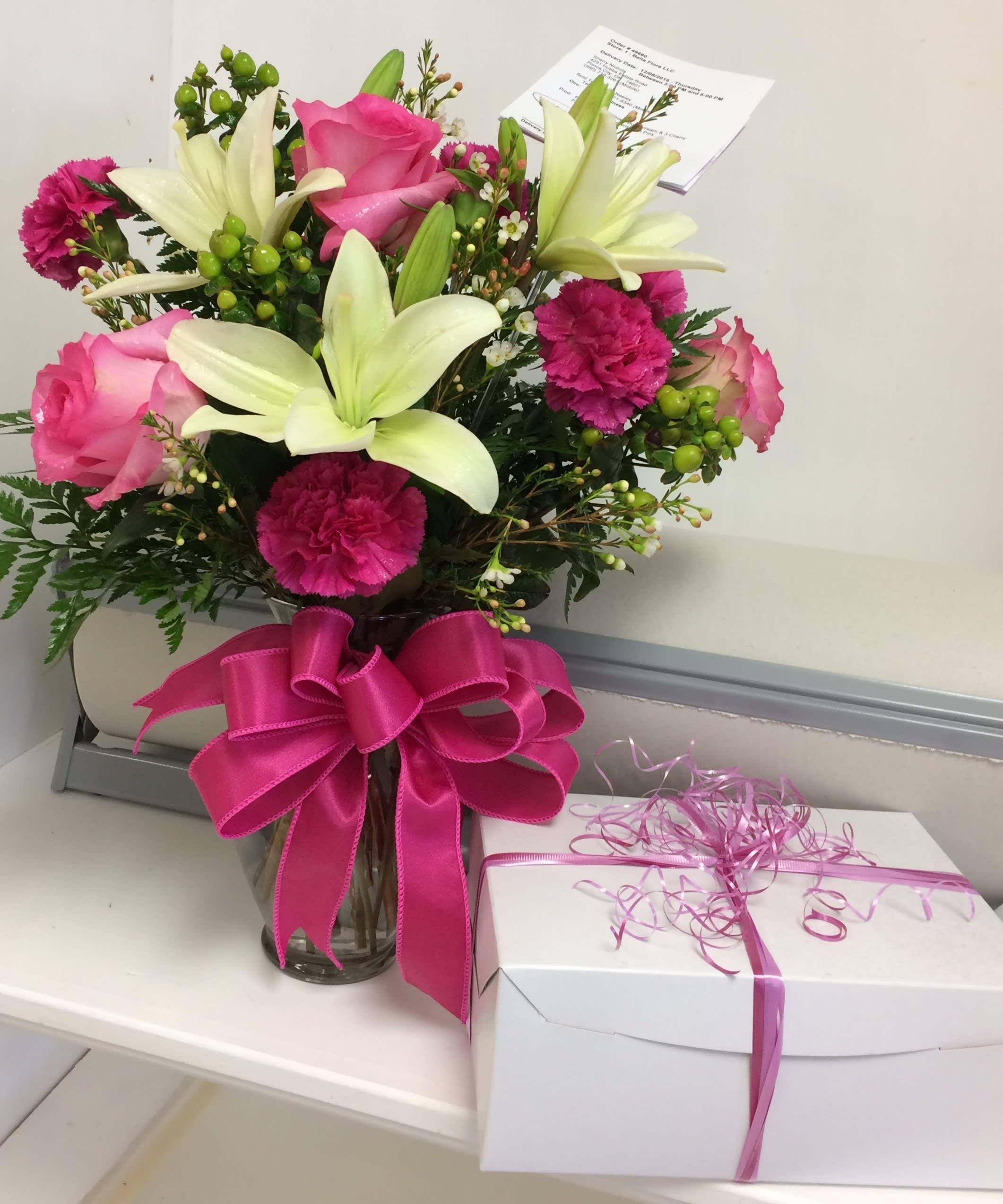 Pink White In Ponca City Ok Bella Flora Bakery