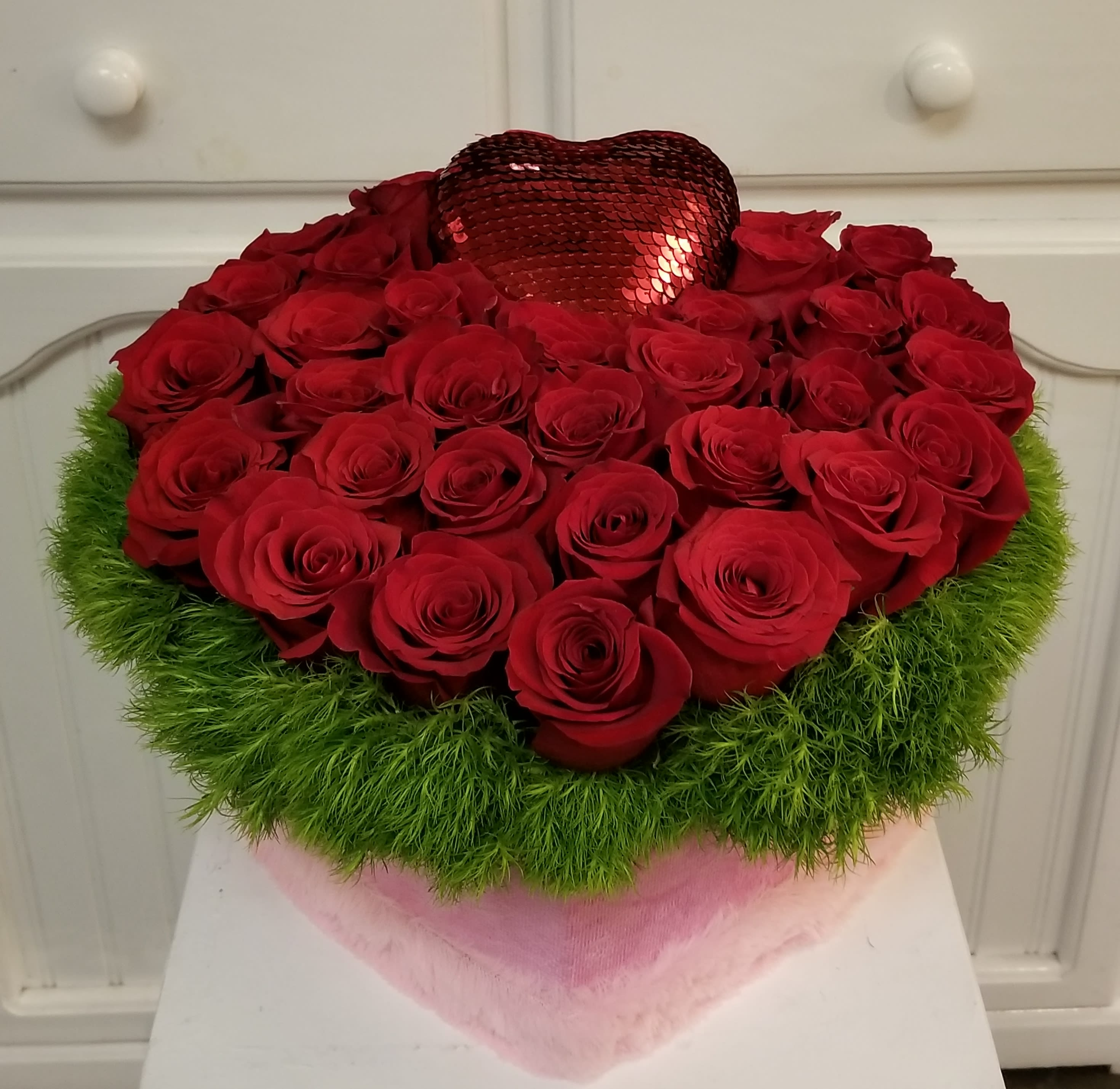 Red Rose Heart In Beverly Hills Ca Apropos Floral Event Design