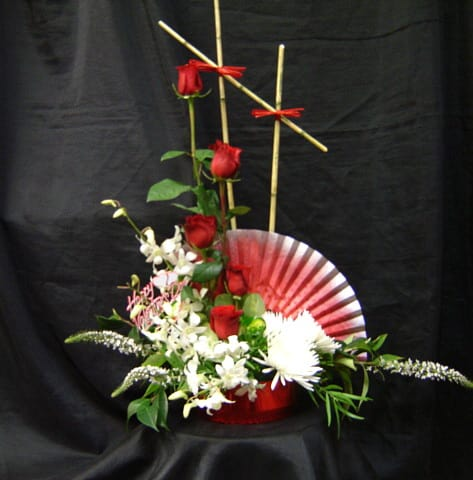 Ikebana Floral Arrangement By Flowers Forever Llc