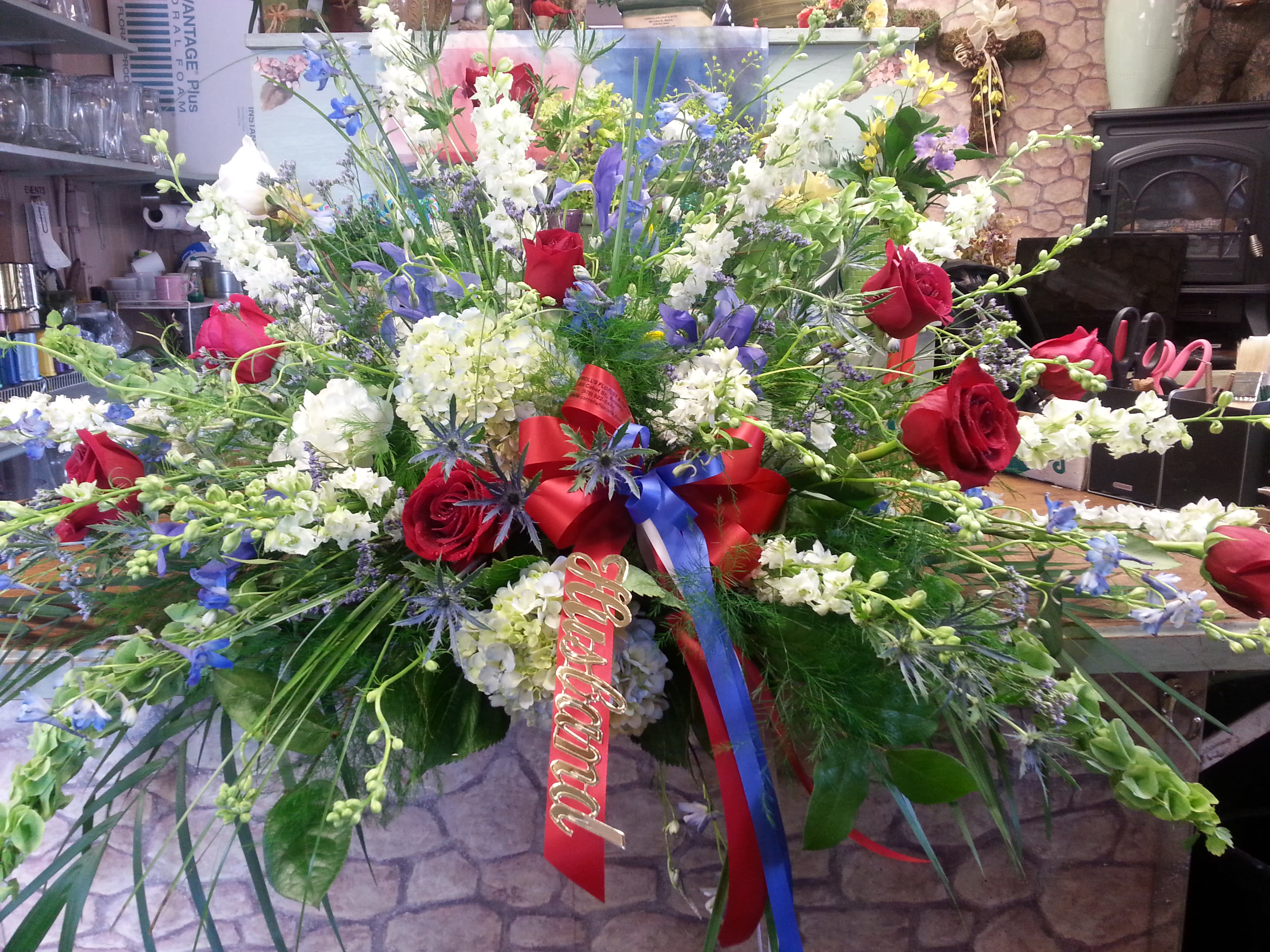 Military/Patriotic Funeral Casket/Blanket Cover