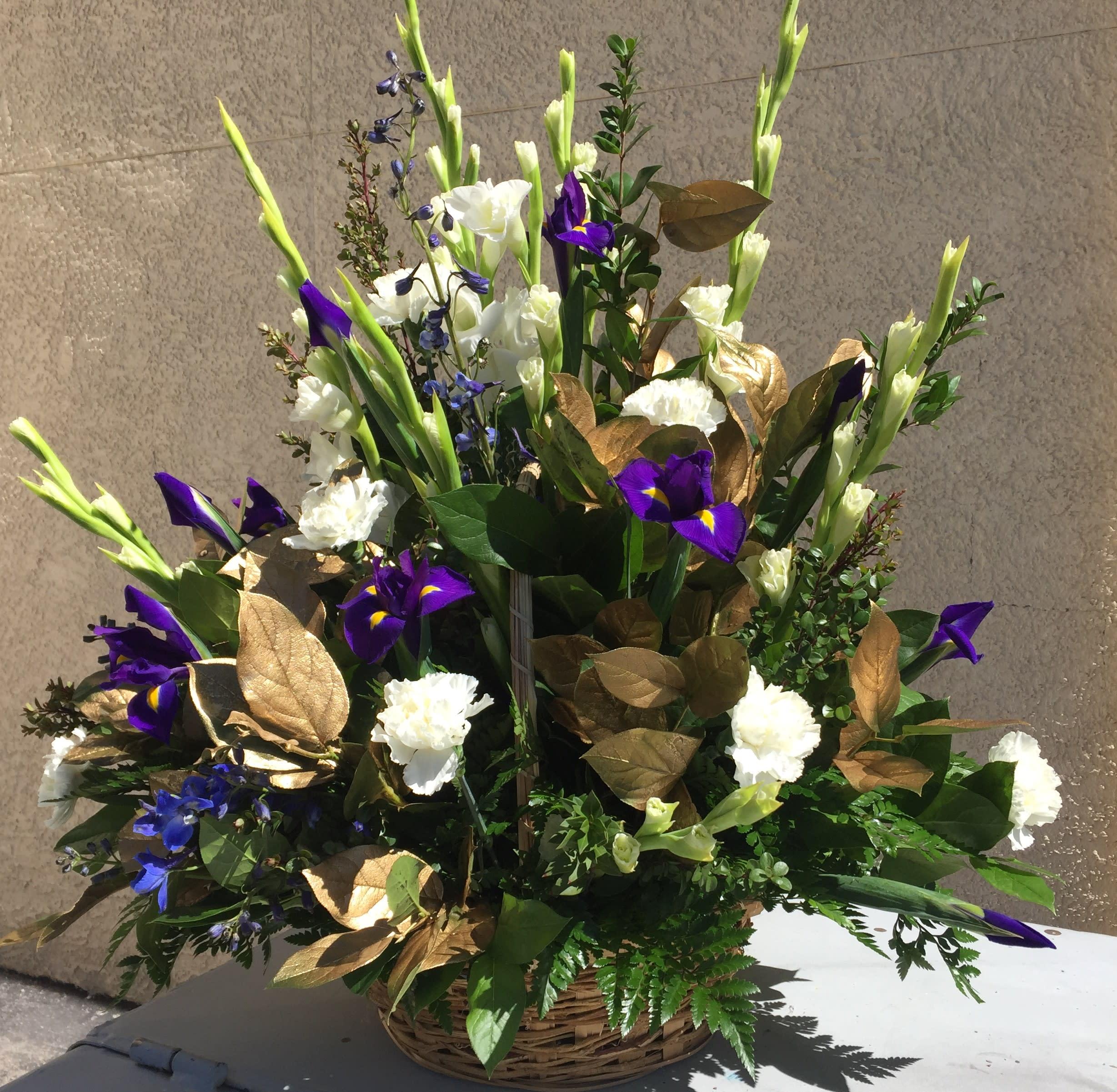 Spring Flowers Basket In Las Vegas Nv Sun City Summerlin Florist