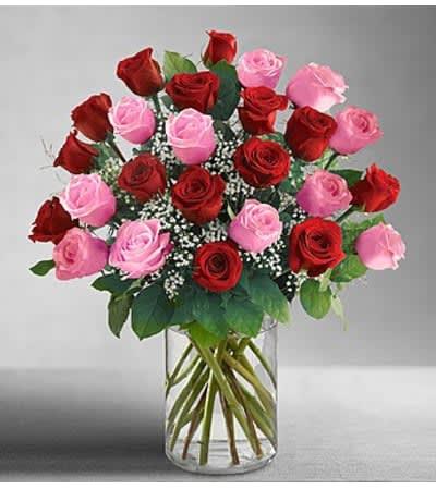 Ultimate Elegance Pink And Red Roses In Elk Grove Ca Laguna Flowers