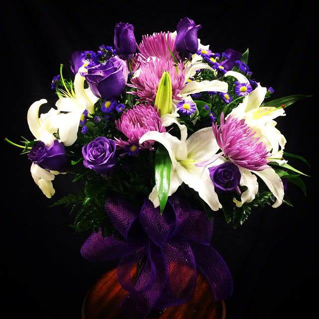 Lavender, White and Purple Flower Bouquet !