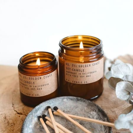 P  F  Soy candles - Golden Coast - 7 2 oz in Altamonte Springs, FL | The  Flower Studio