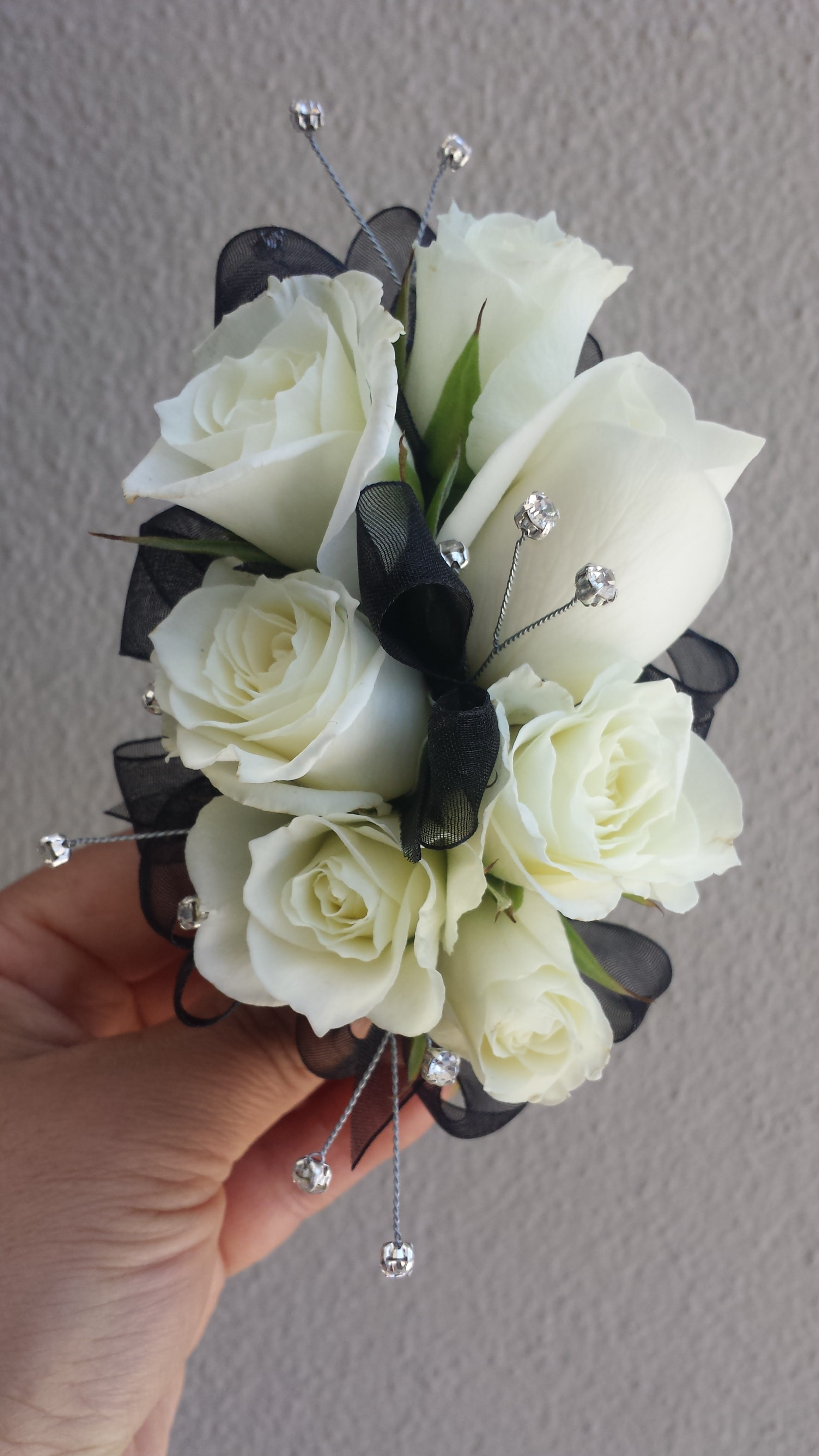 White Roses Corsage 003 In Beverly Hills Ca Apropos Floral Event Design