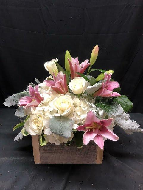 Rustic Floral Box