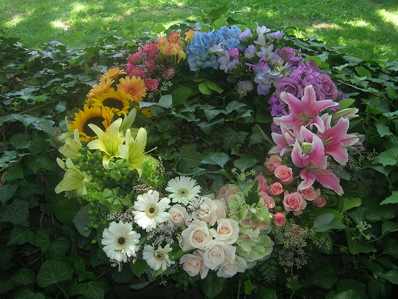 Color Wheel Sympathy Wreath By Petal Pushers