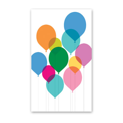Birthday Balloons Card In Provo UT