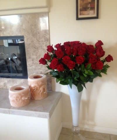 Four Dozen Roses By Palm Springs Flower Mart