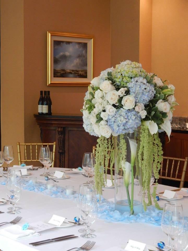 High End Hydrangea And Calla Lilies Table Centerpiece In Fairfax