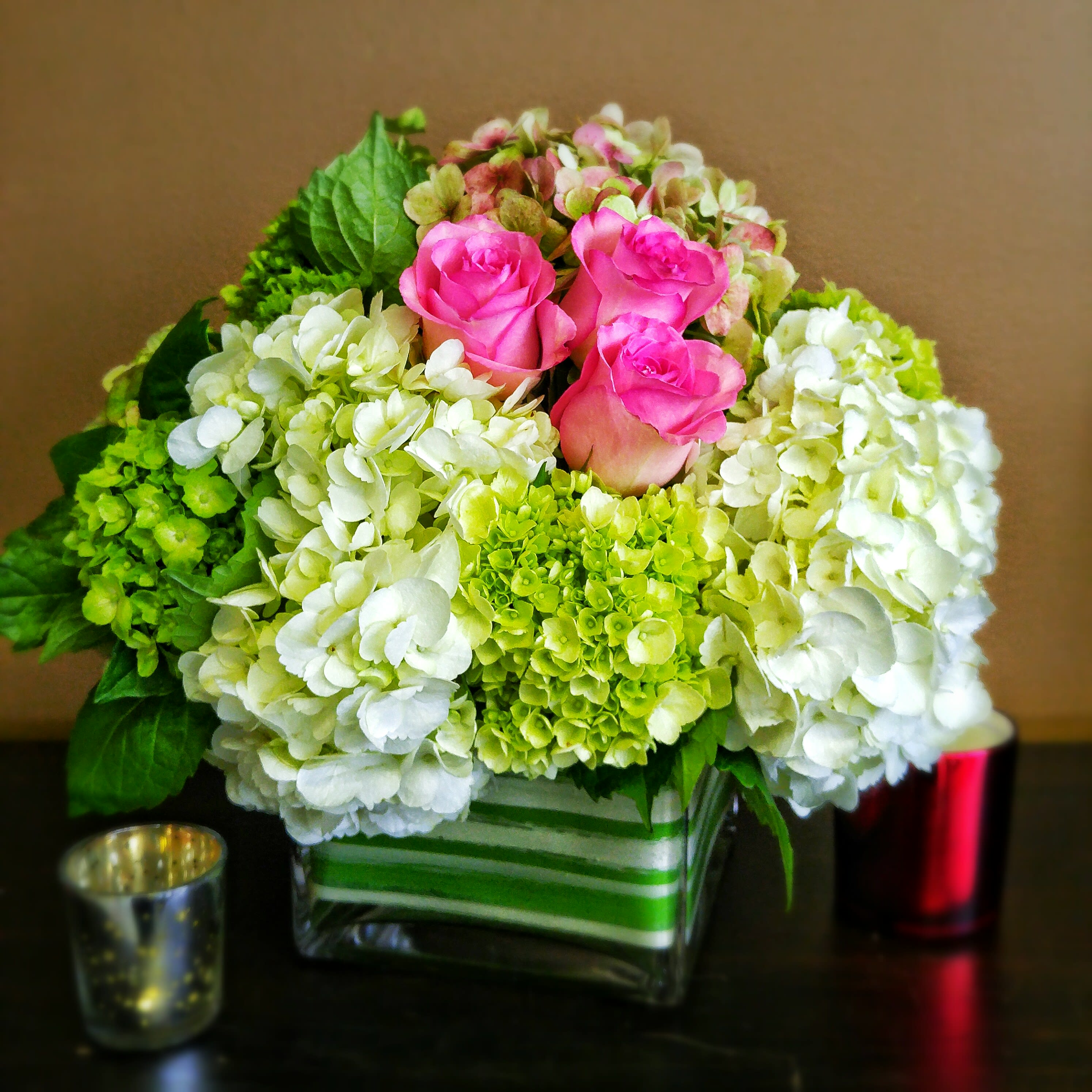 Hydrangea And Roses By Grace In High Point Nc Llanes Flower