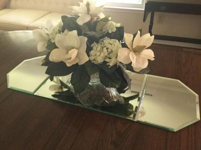 This Silk   Permanent Table Centerpiece Is Made Of White Magnoliaswhite