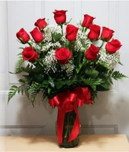 Dozen Red Roses And Babies Breath New 40 In Sumter Sc