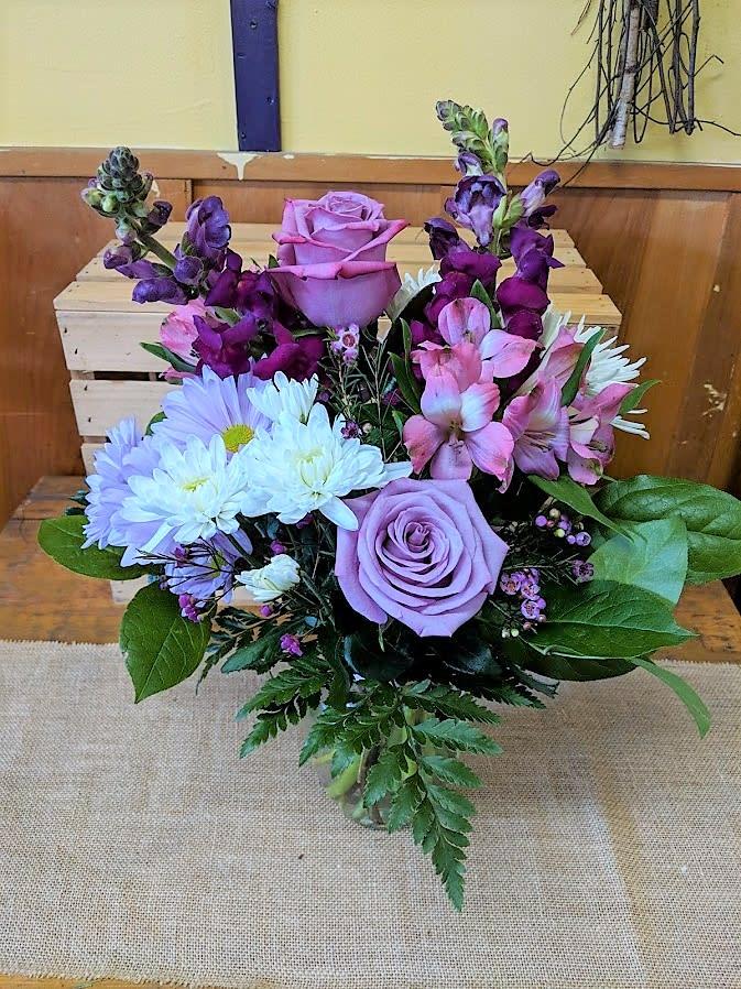 Purple Passion Bouquet by Arnold's Flower Shop