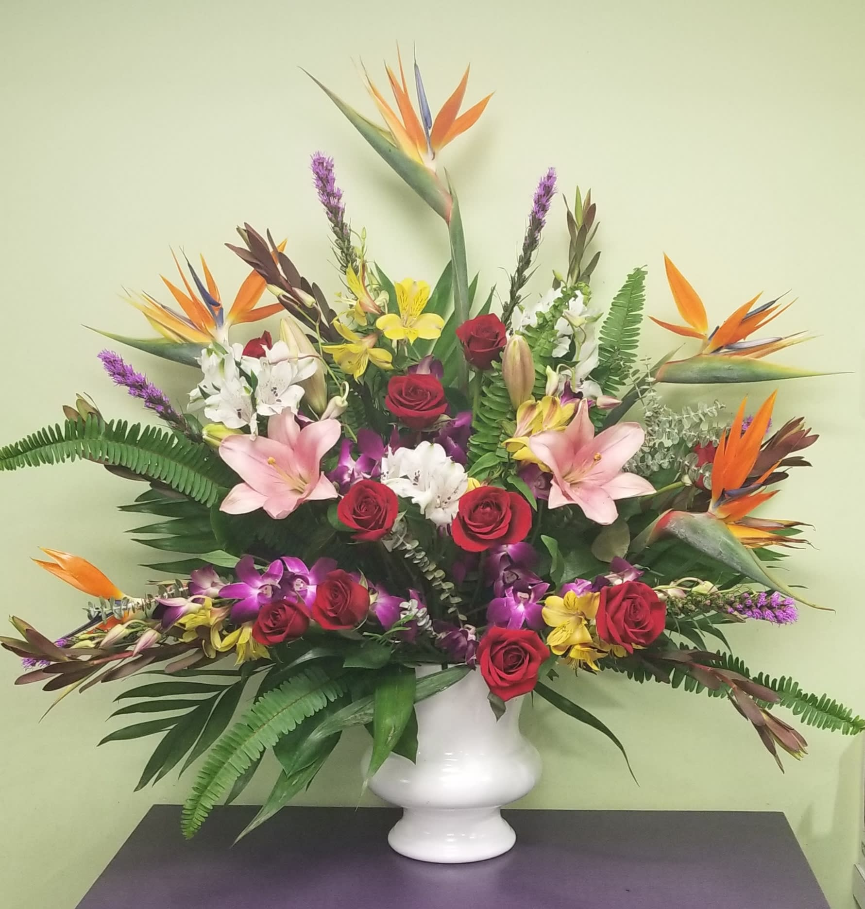 Tropical Sympathy Basket In Philadelphia Pa Philadelphia Flower