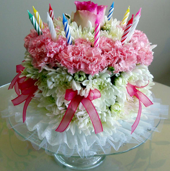 Birthday Cake By Flowers Are Happy