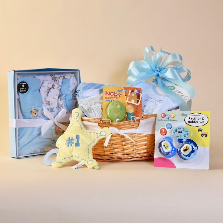 McShan Baby Boy Gift Basket