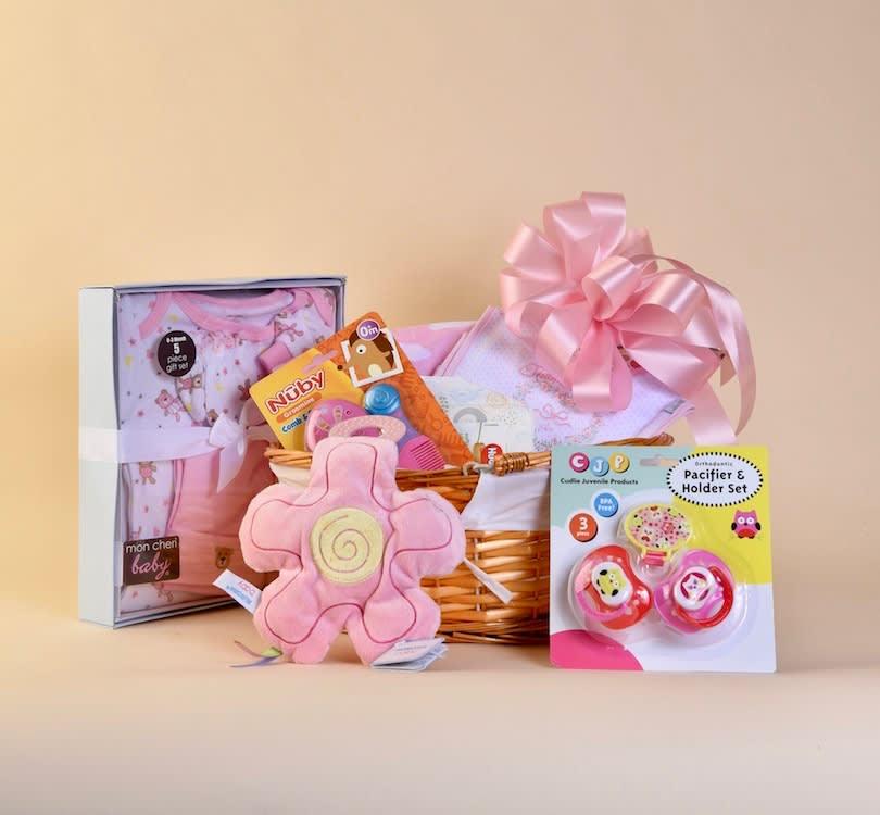 McShan Baby Girl Gift Basket
