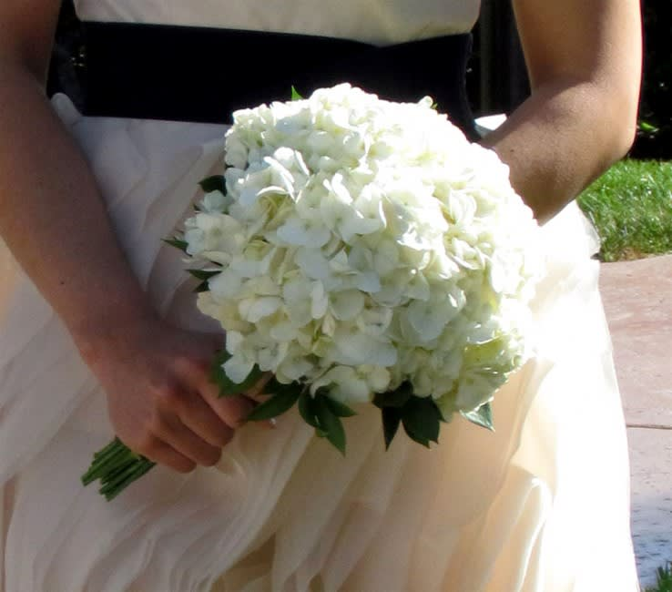 White Hydrangea Wedding Bouquet By House Of Stemms