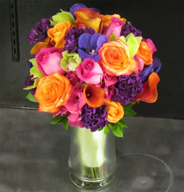 Wedding Flowers Website: Brightly Colored Bridal Bouquet In San Diego, CA