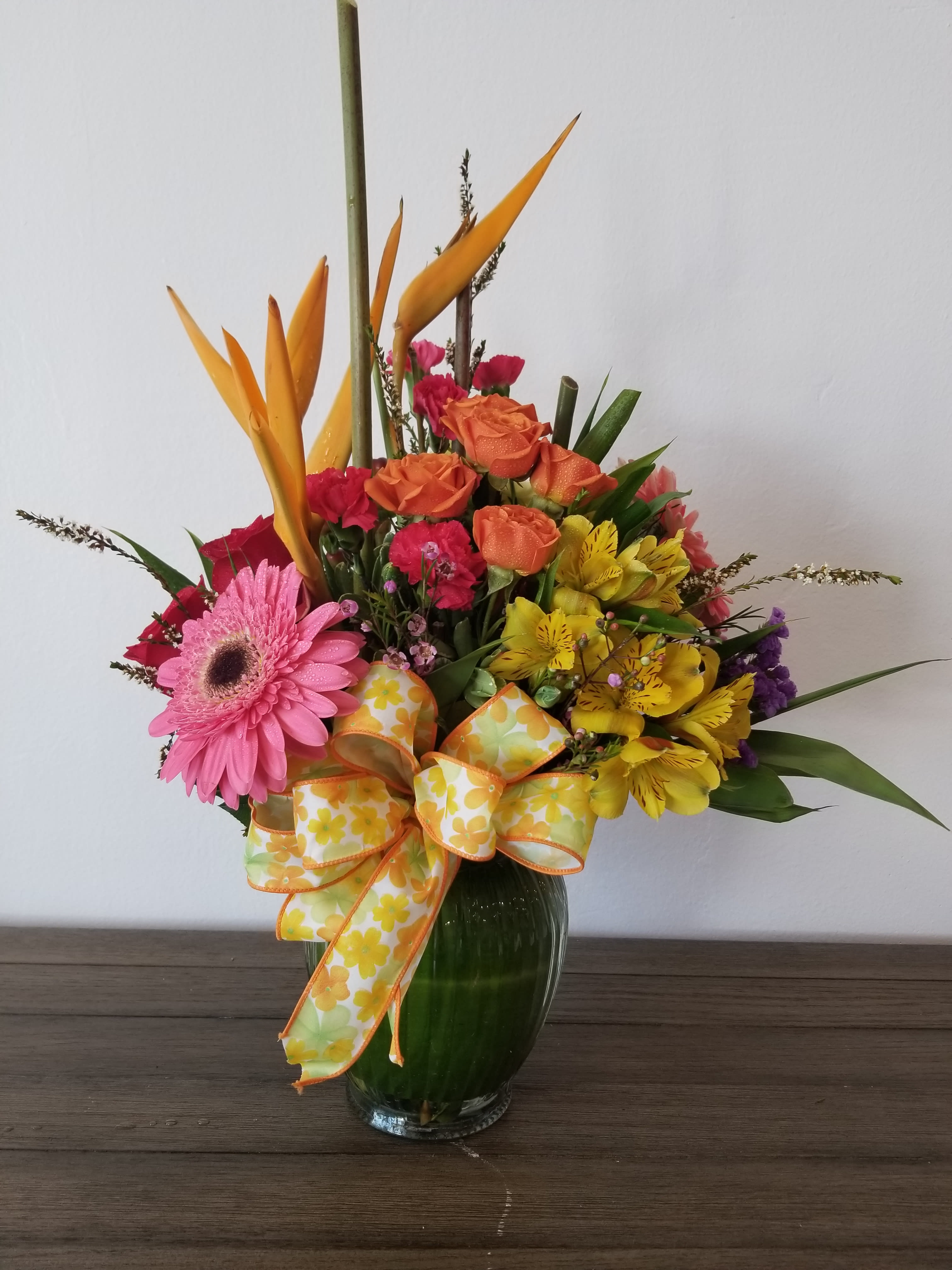 $45.00 Tropical mix - Tropical flowers mixed with traditional flowers
