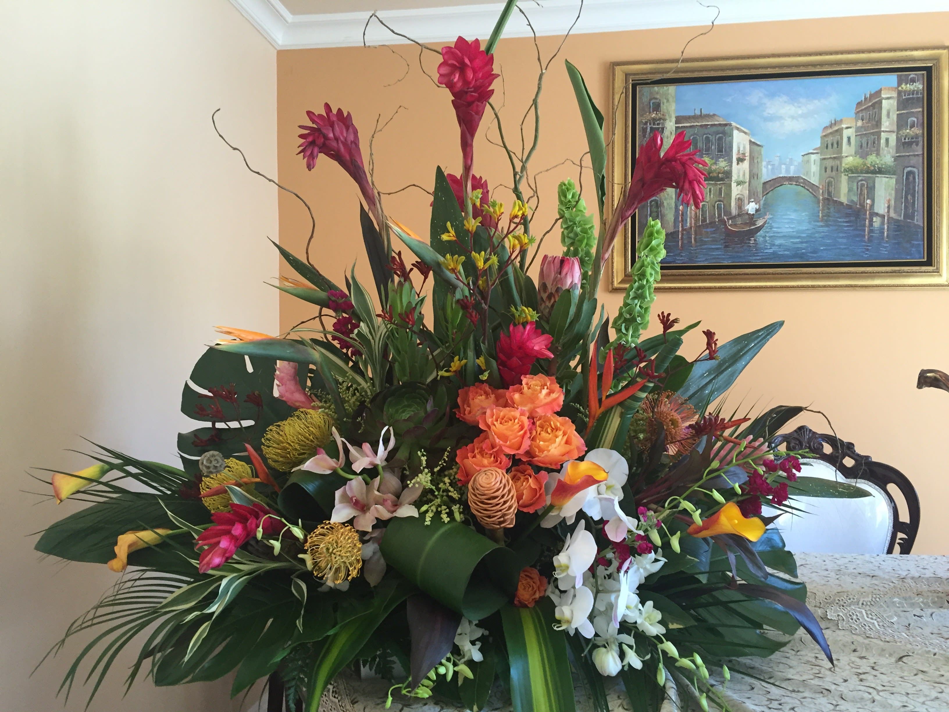 Exotic Tropical Arrangament 007 In Fair Oaks Ca Bella Fiore