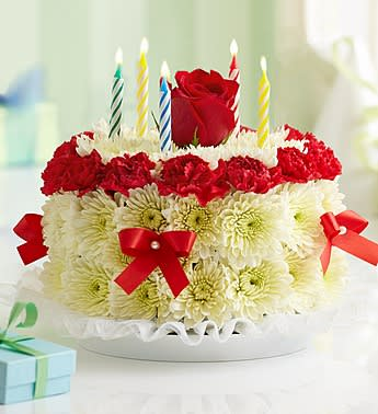 Birthday Flower Cake Bright