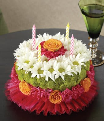 Happiest Birthday Flower Cake In Whitinsville Ma The Flower Shop