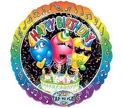 Happy Birthday Jumbo Singing Balloon By Seasons Flowers Of South Beach
