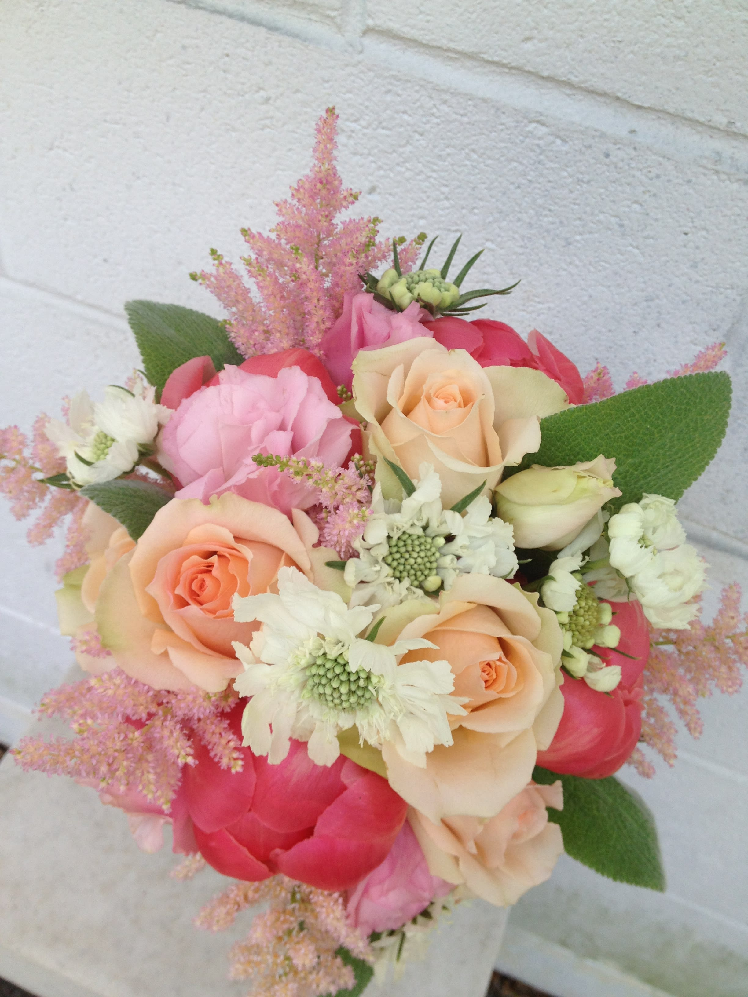 Bridal Bouquet With Coral In Millbury Ma Floral Elegance