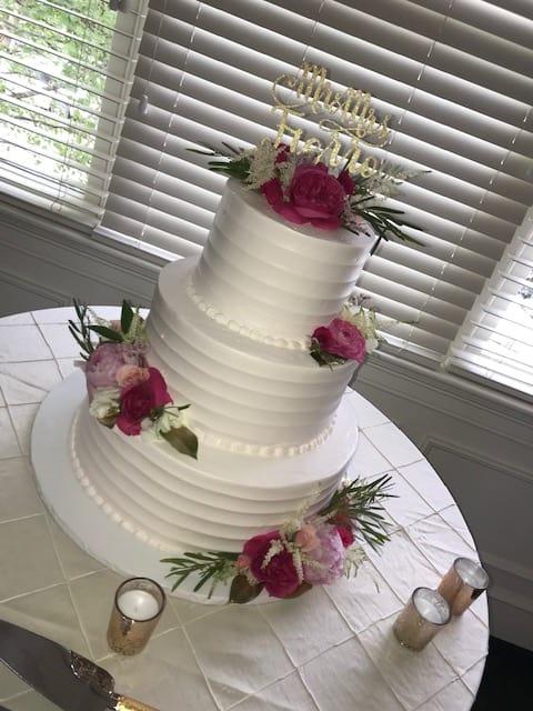 Wedding Cake Flowers.Cake Flowers Hot Pink And Cream In Millbury Ma Floral Elegance