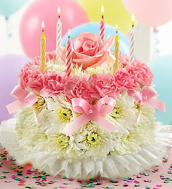 Flower Birthday Cake In Augusta GA