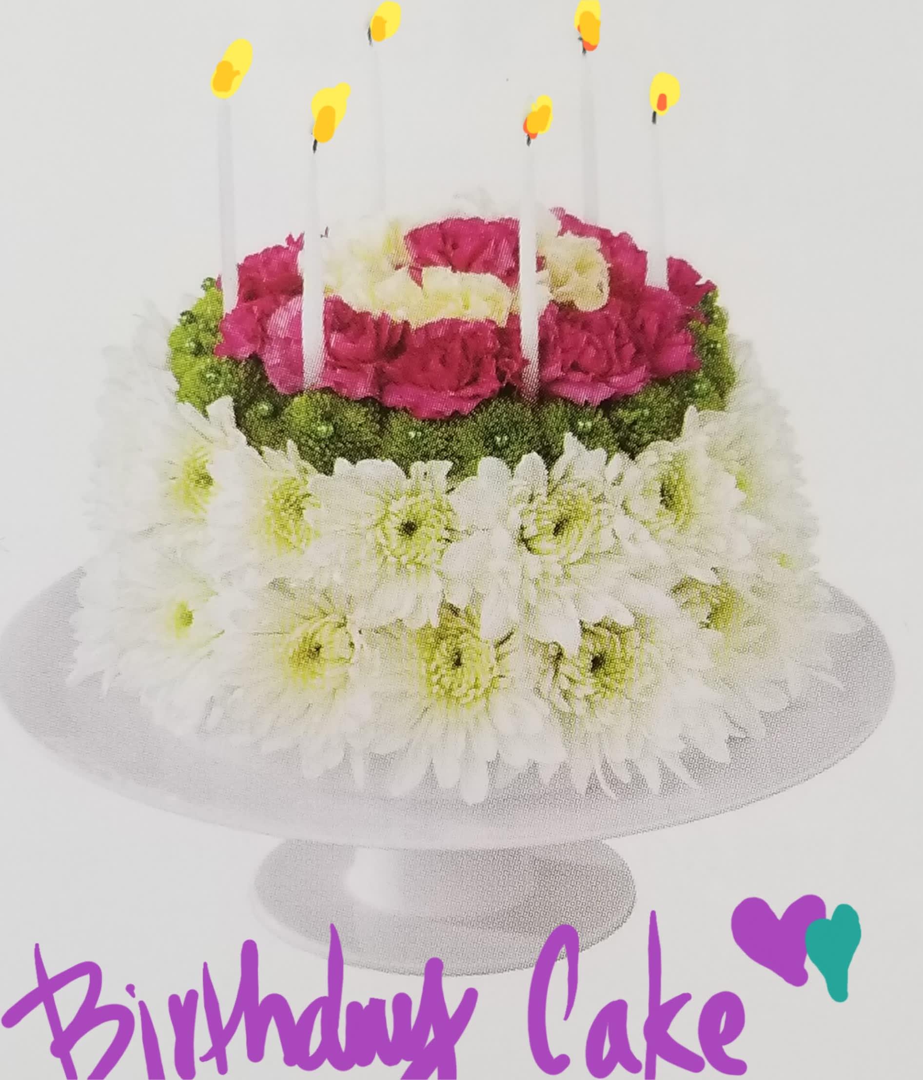 Aqua Foam Floral Cake