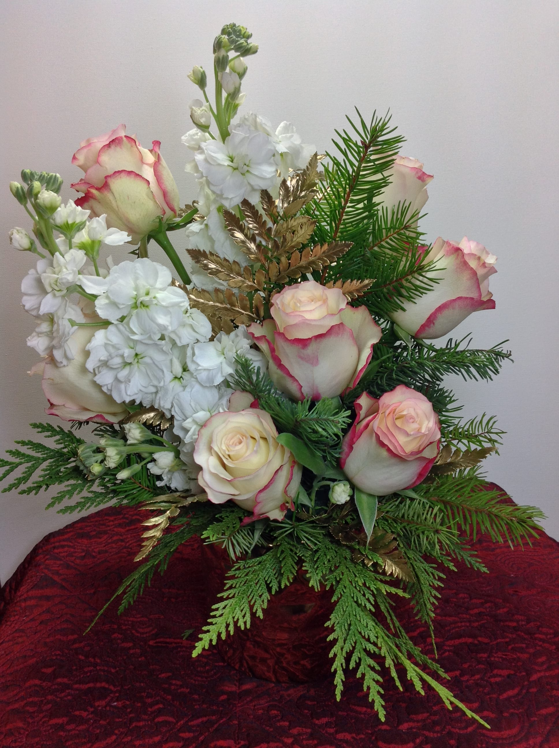 Winter Rose Gold In Summerfield Nc Daly Floral Designs