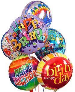 Happy Birthday 6 Balloon Bouquet