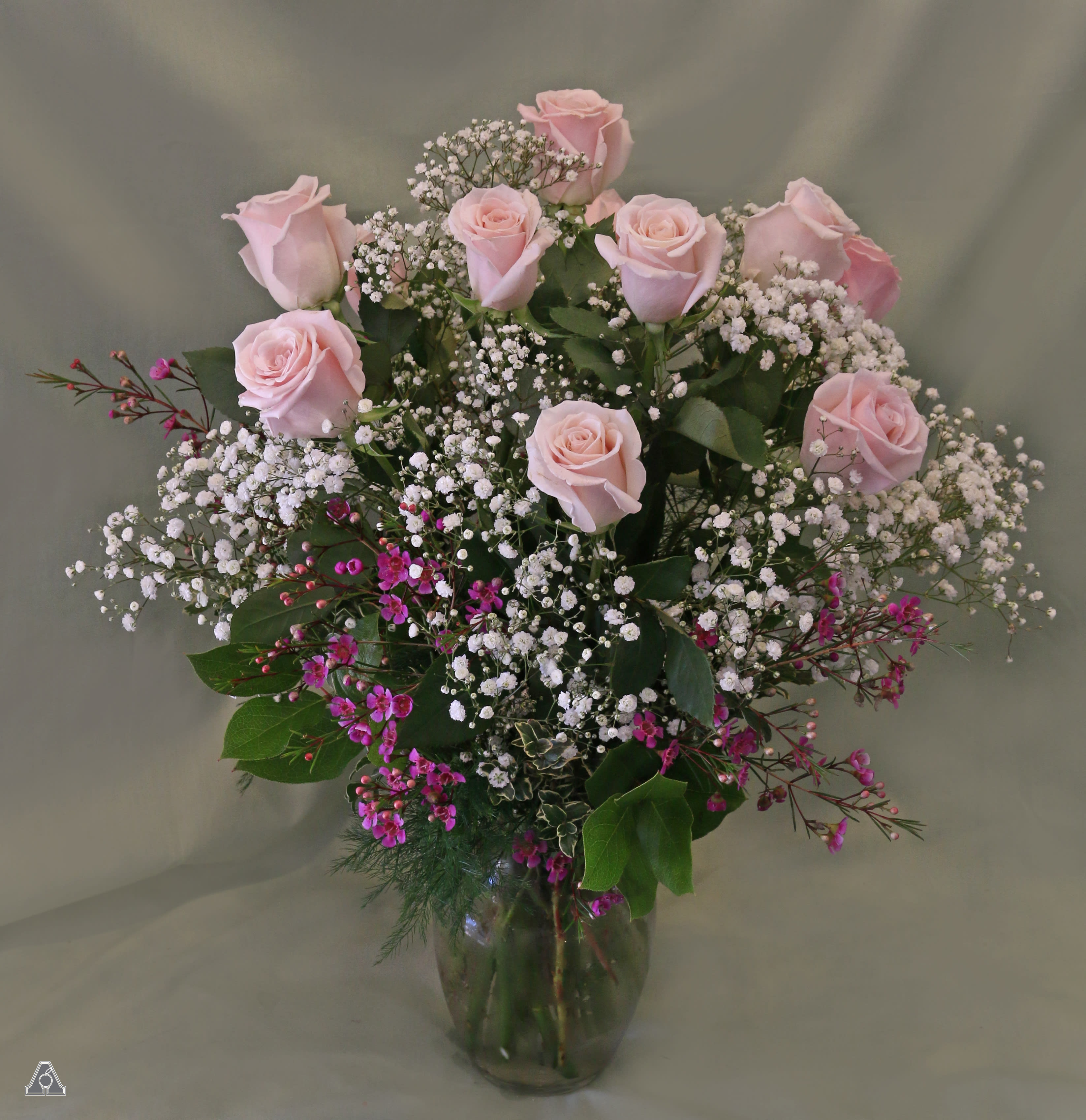 Blush Pink Roses In Amherst Ma Atkins Farms Flower Shop