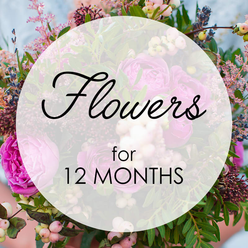 Flowers for 12 Months