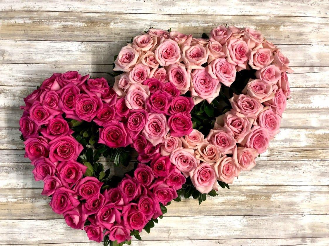 Double Heart Rose Tribute In Point Pleasant Nj Purple Iris